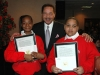 Don Barden with students from the Kermit Roosevelt Booker Sr. Empowerment Elementary School