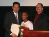 Don Barden with students and Mike Darley of Kermit R. Booker Sr. Empowerment Elementary School