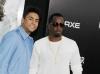 Sean Diddy Combs (R) and son, Quincy Jones Brown