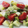 FOOD FOR THE SOUL: Cucumber Tomato Spring Salad