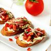 FOOD FOR THE SOUL: Basil & Vegan Cream Cheese Bruschetta