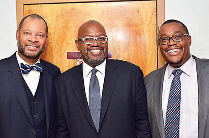 Senator Aaron Ford, U.S. District Court Judge Richard Boulware and Regent Cedric Creer.