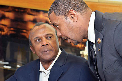 Harvey Munford and Congressman Steven Horsford.