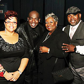 Juane and Aaron Arrington with Tamela and David Mann after Facebook Chorale Concert.