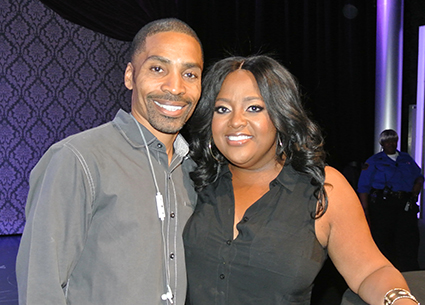 Sherri Shepherd (pictured with comedian Willis Turner) performed at the Lipshtick Club inside the Venetian Hotel.