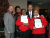 Don Barden with students and staff of Kermit R. Booker Sr. Empowerment Elementary School